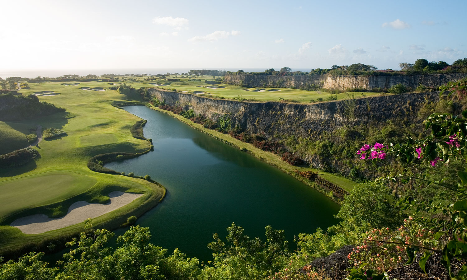 Barbados Golf Course Lake View