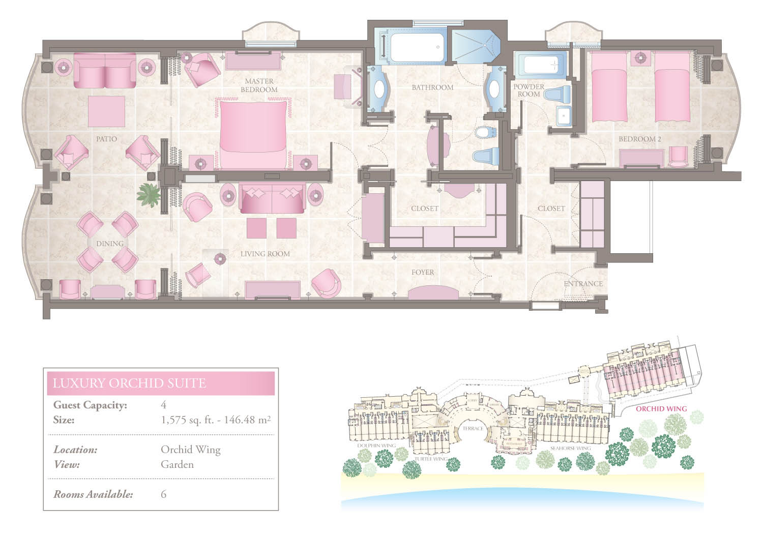 Luxury Orchid Suites Floorplan Barbados