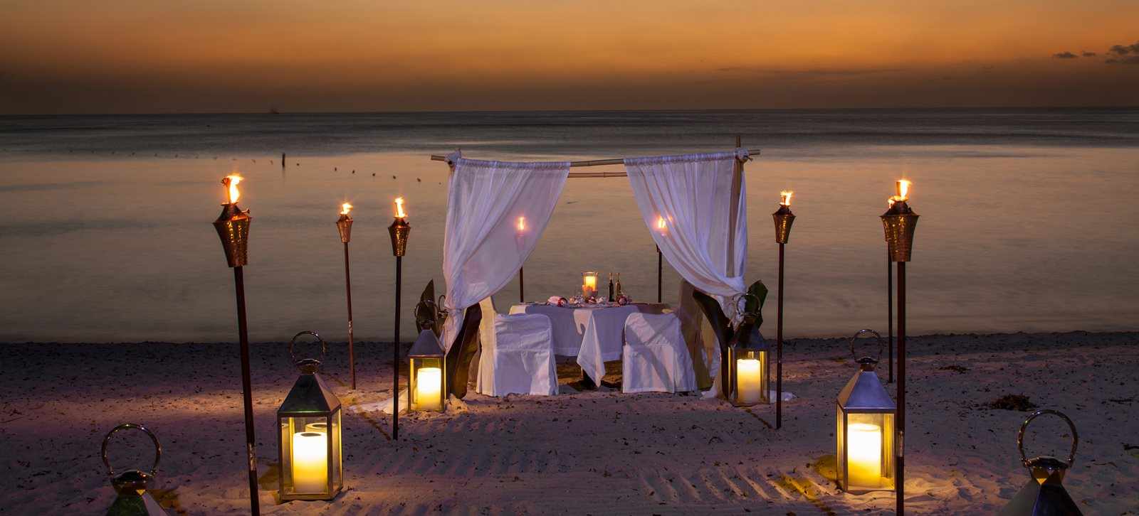 Candle-lit Dinner on the Beach