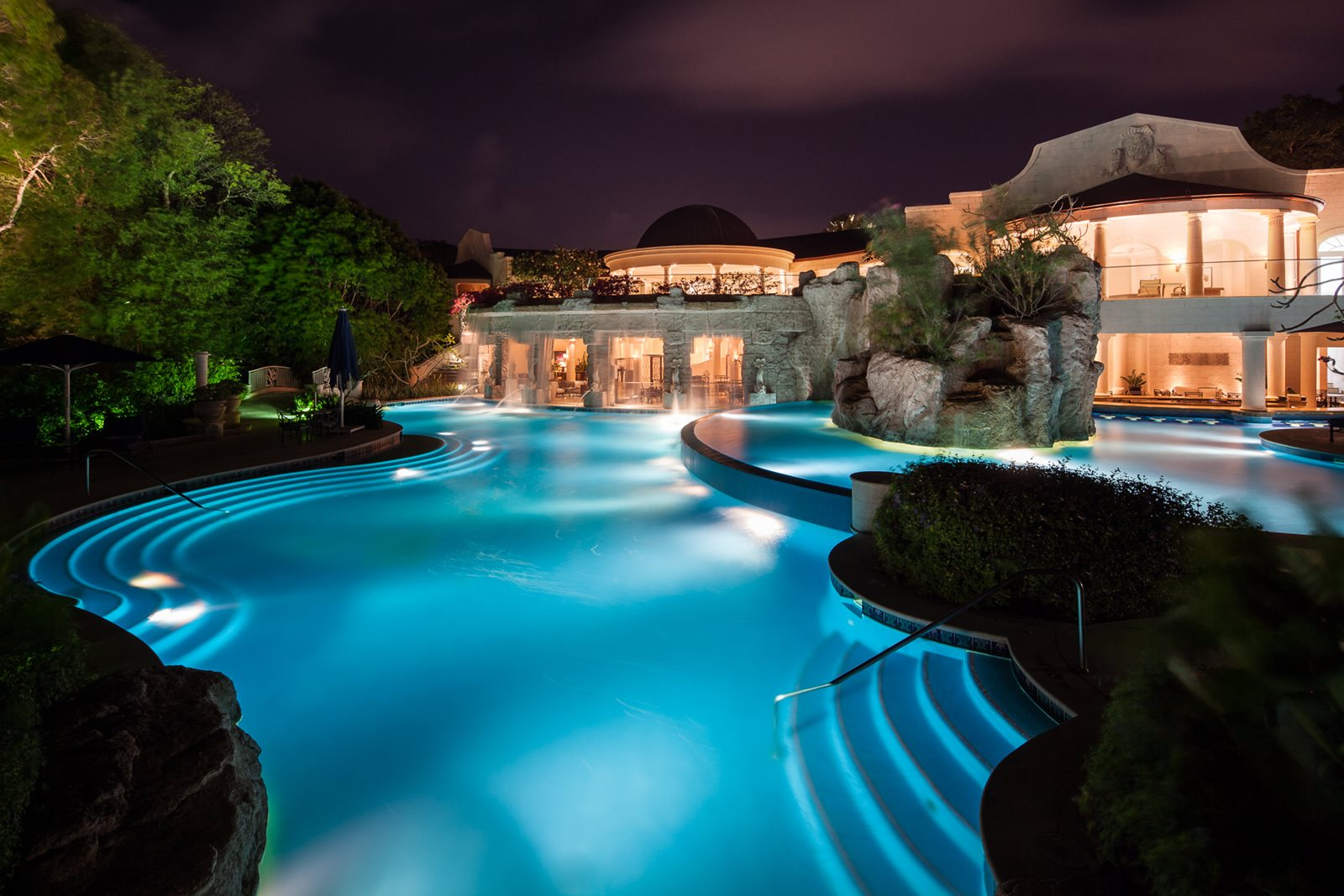 Luxury Sandy Lane Resort Pool in Caribbean