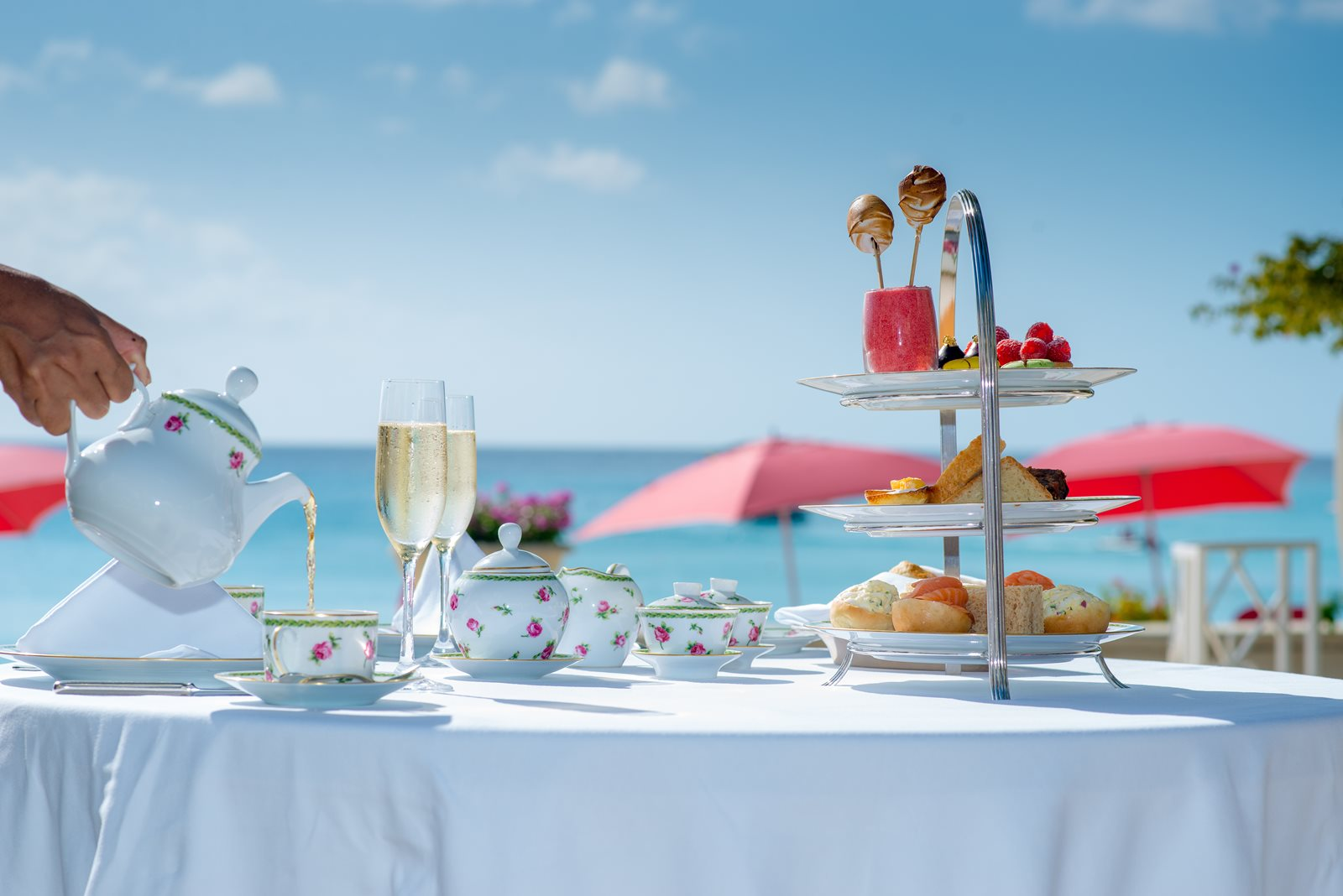 Afternoon Tea at Sandy Lane Barbados