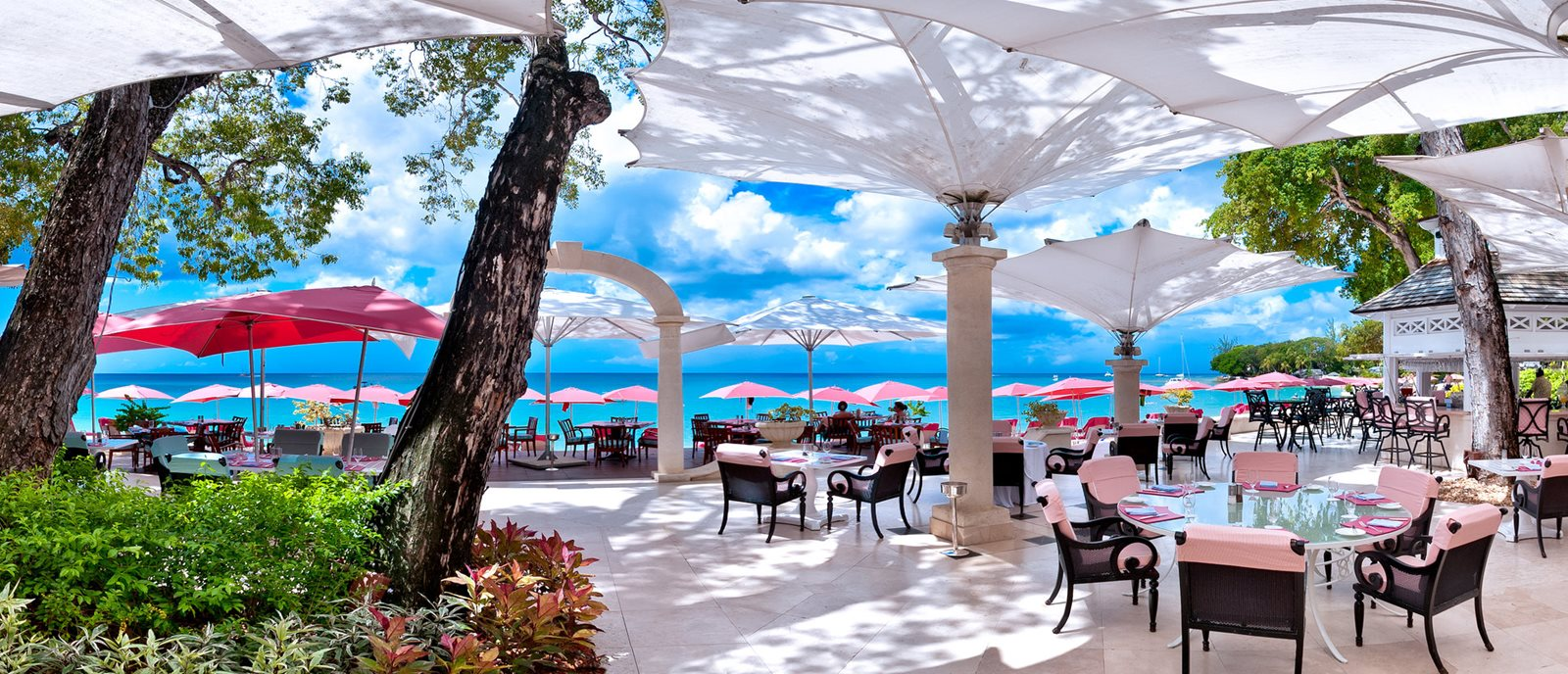 Outdoor Dining at Bajan Blue Restaurant Barbados