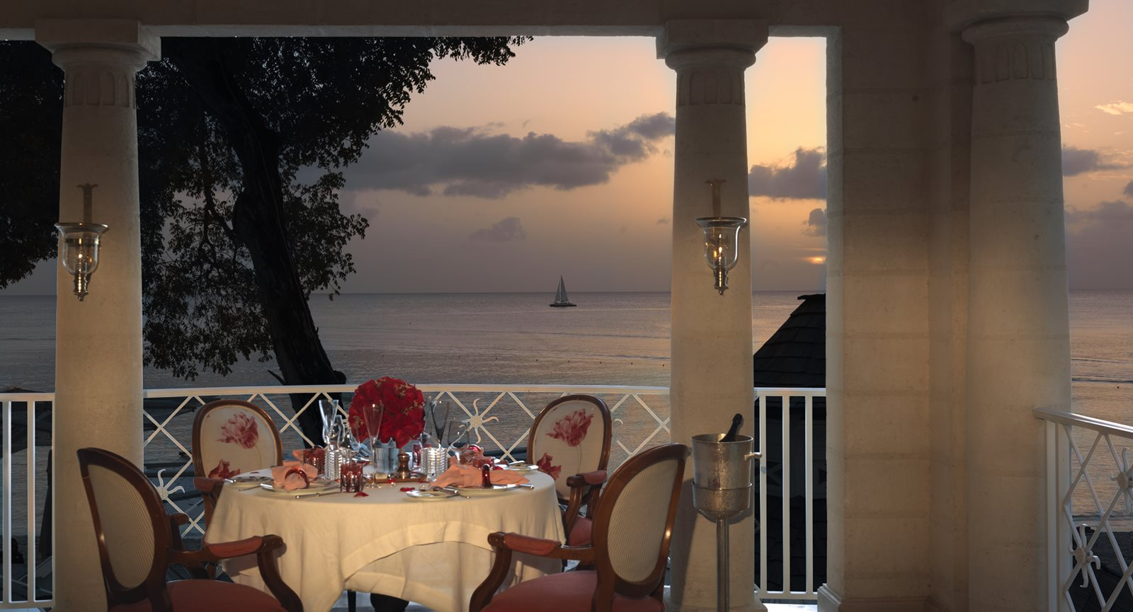 Barbados Dining with a Sunset